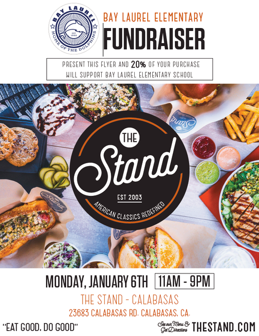 Back-to-School Fundraiser for Bay Laurel at The Stand Calabasas -- January 6, 2020